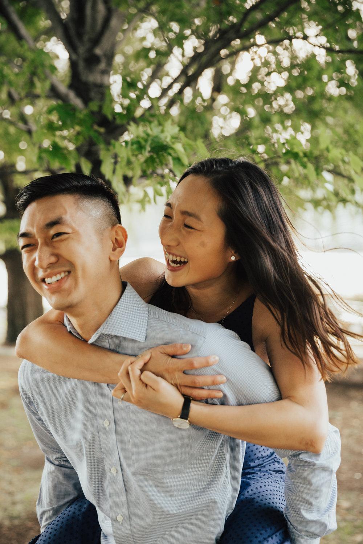 fun engagement shoot new york
