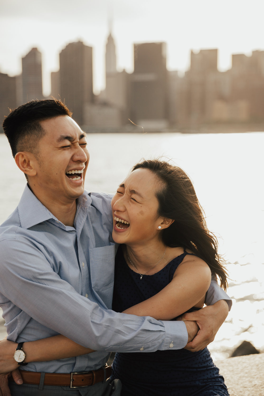 fun engagement photography nyc