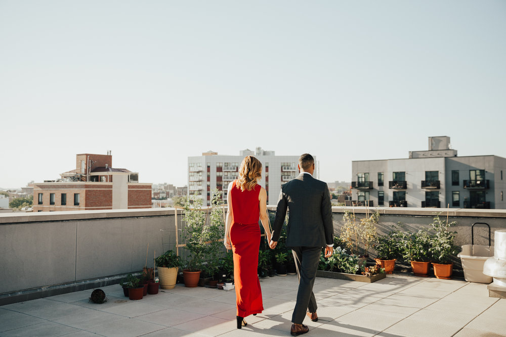williamsburg rooftop engagement session