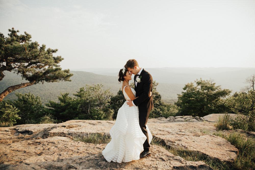 bear mountain summer elopement