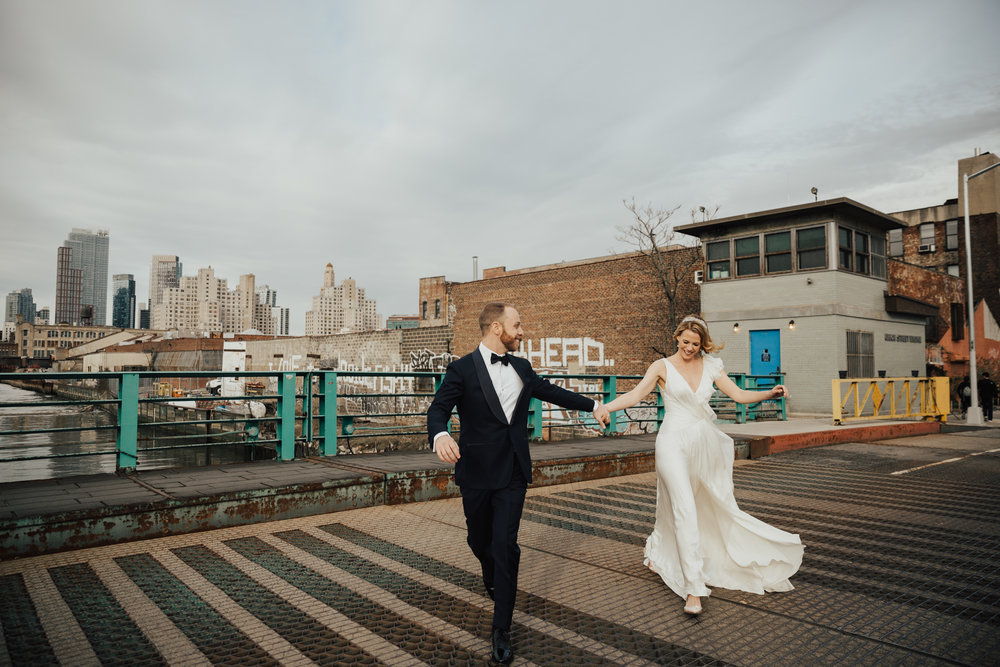 Spring Urban NYC Wedding // Melissa + Zach // The Green Building