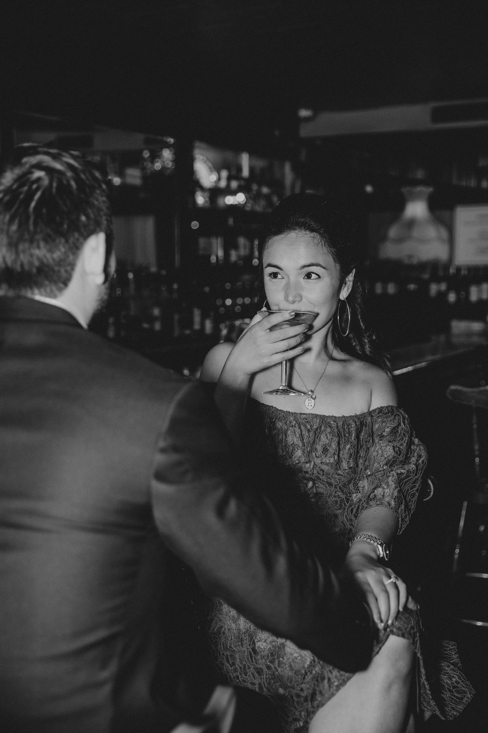 martini engagement shoot