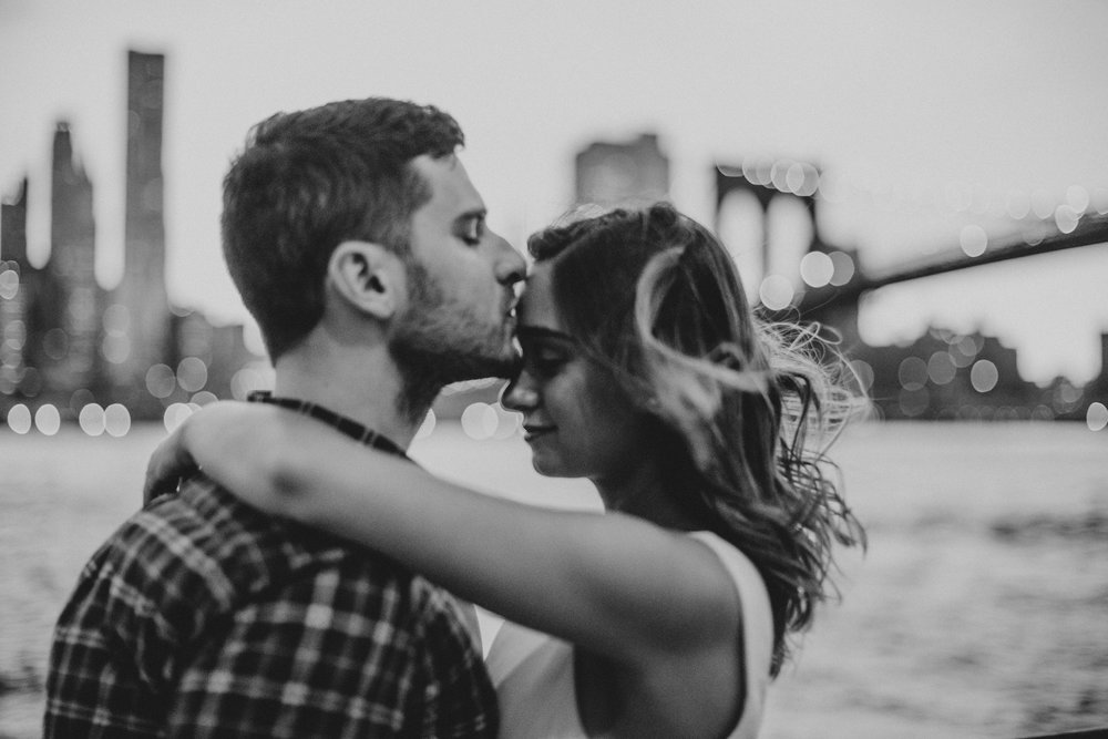 romantic nyc engagement
