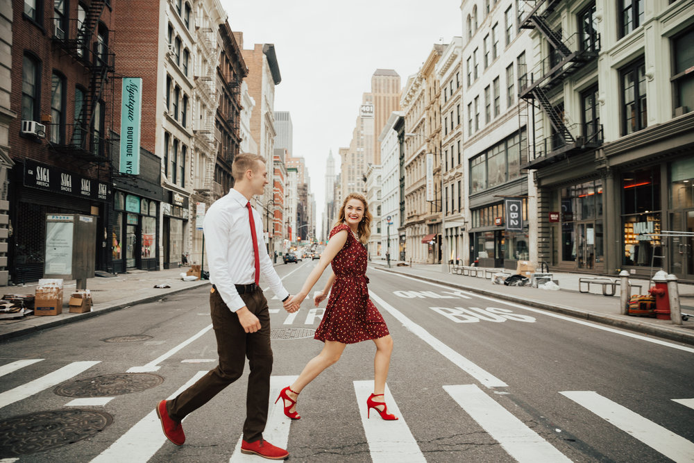 summer soho engagement shoot