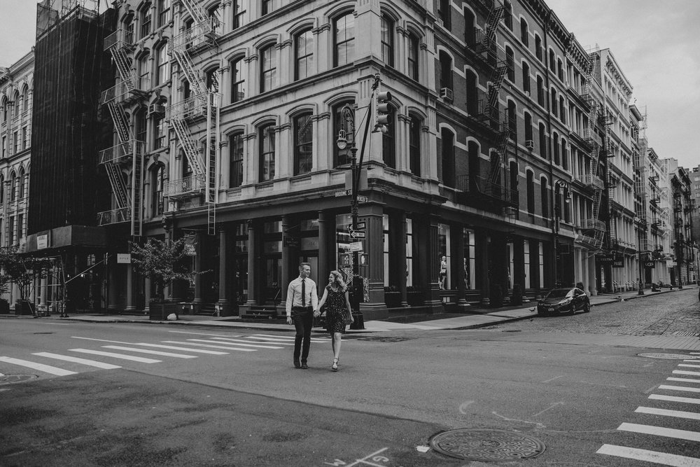 soho nyc engagement photos