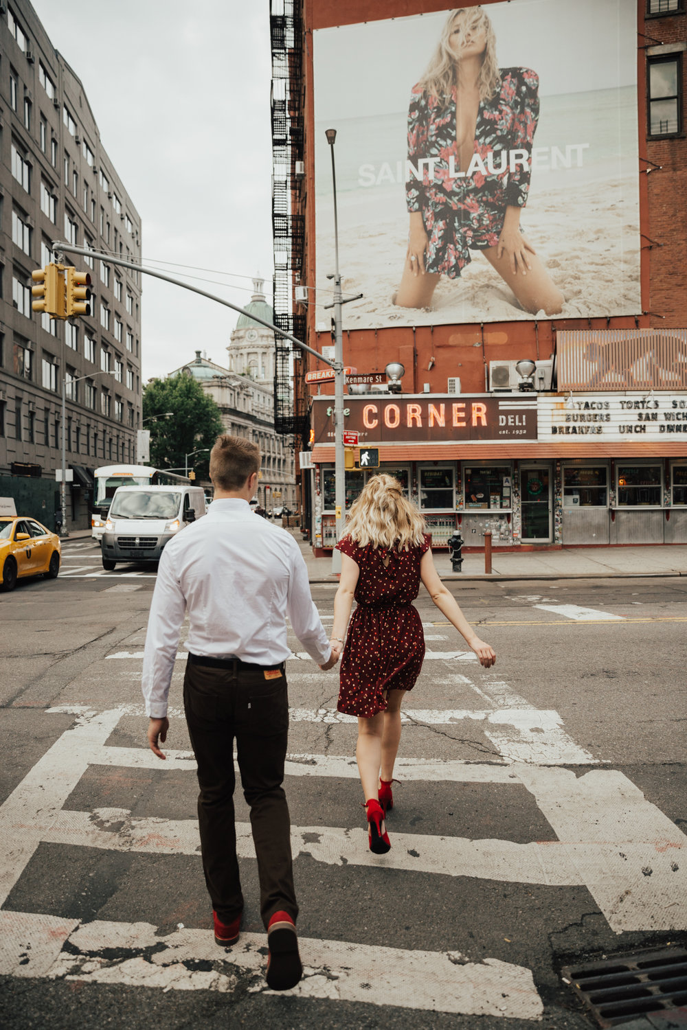 summer nyc engagement photos