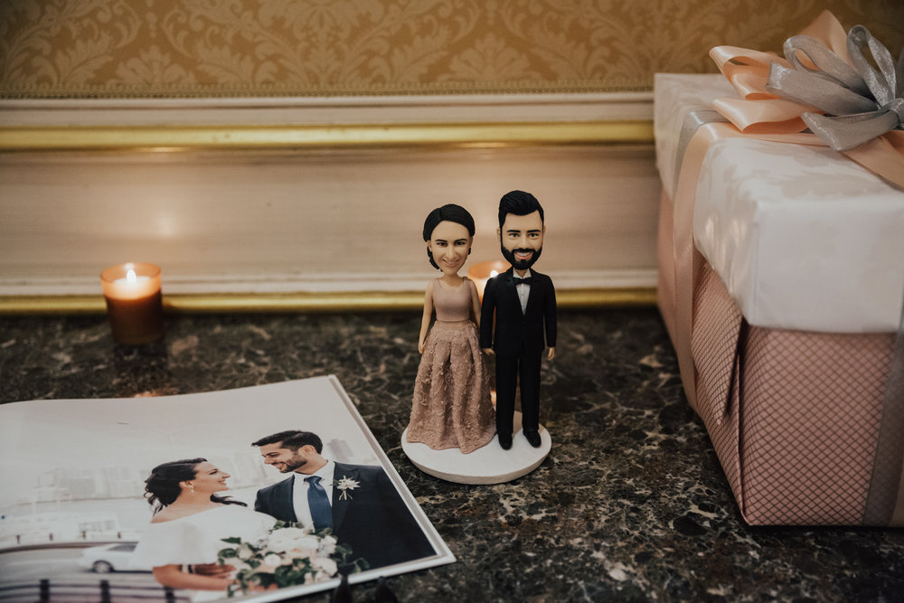 custom bride groom cake topper