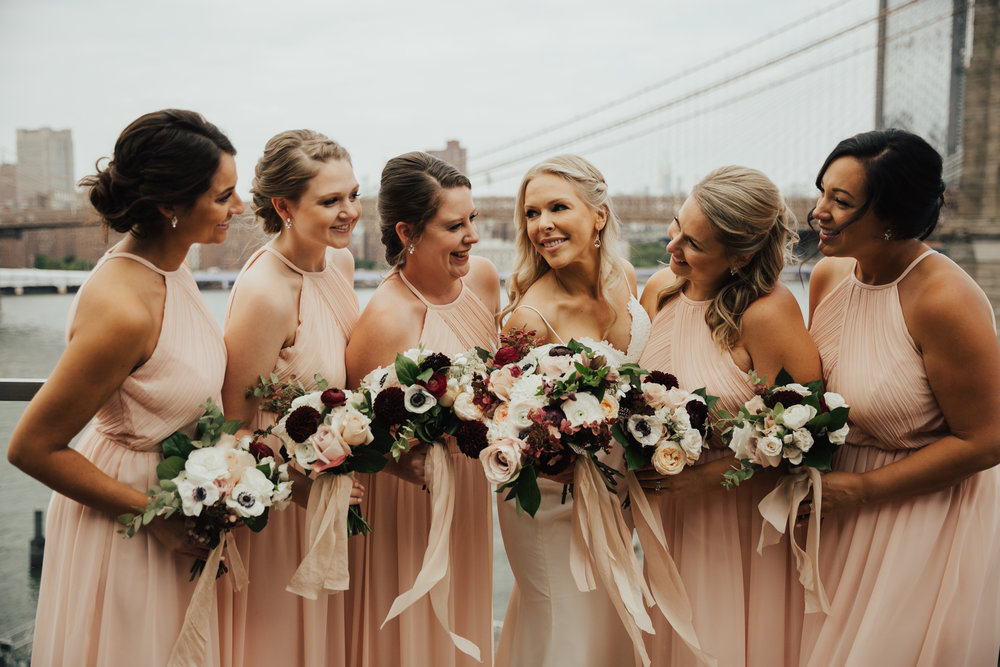boho bridesmaids brooklyn wedding