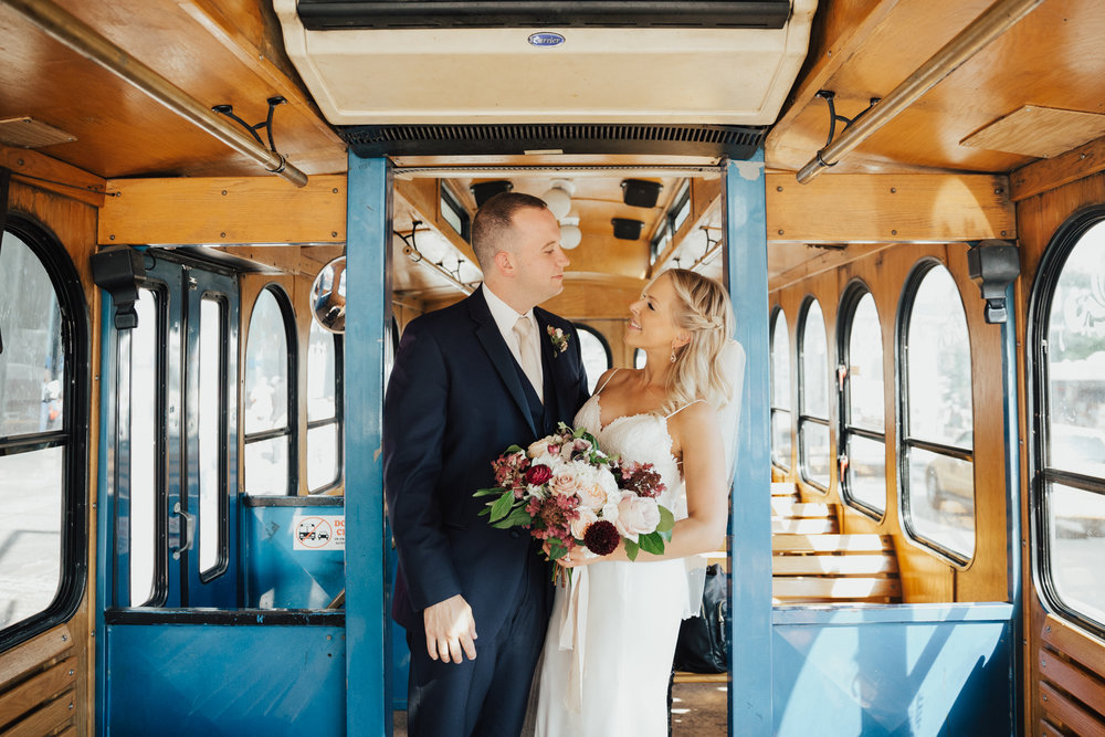 trolley wedding nyc