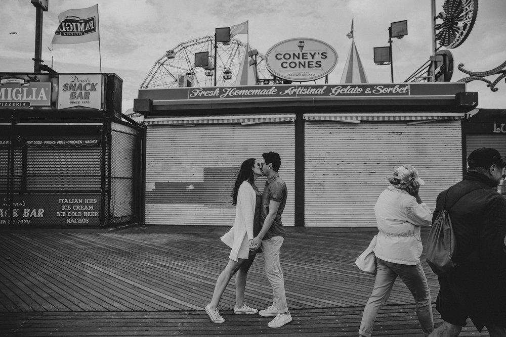 brooklyn hipster engagement shoot