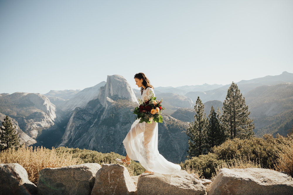 adventurous mountain wedding california