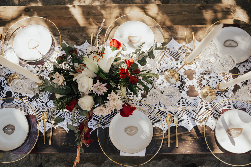 romantic intimate wedding brunch