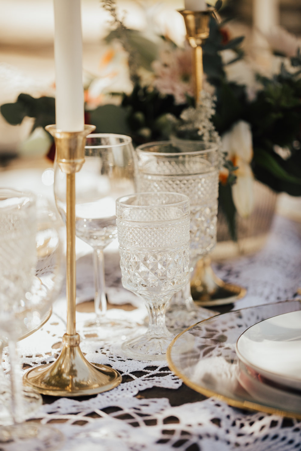 romantic vintage boho wedding decor