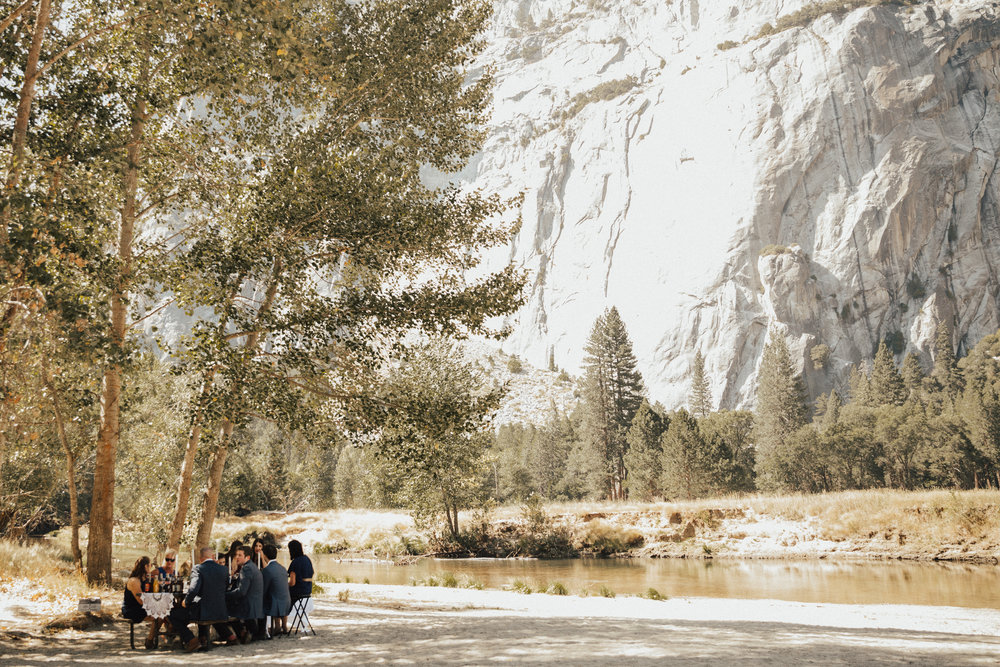 yosemite intimate wedding lunch