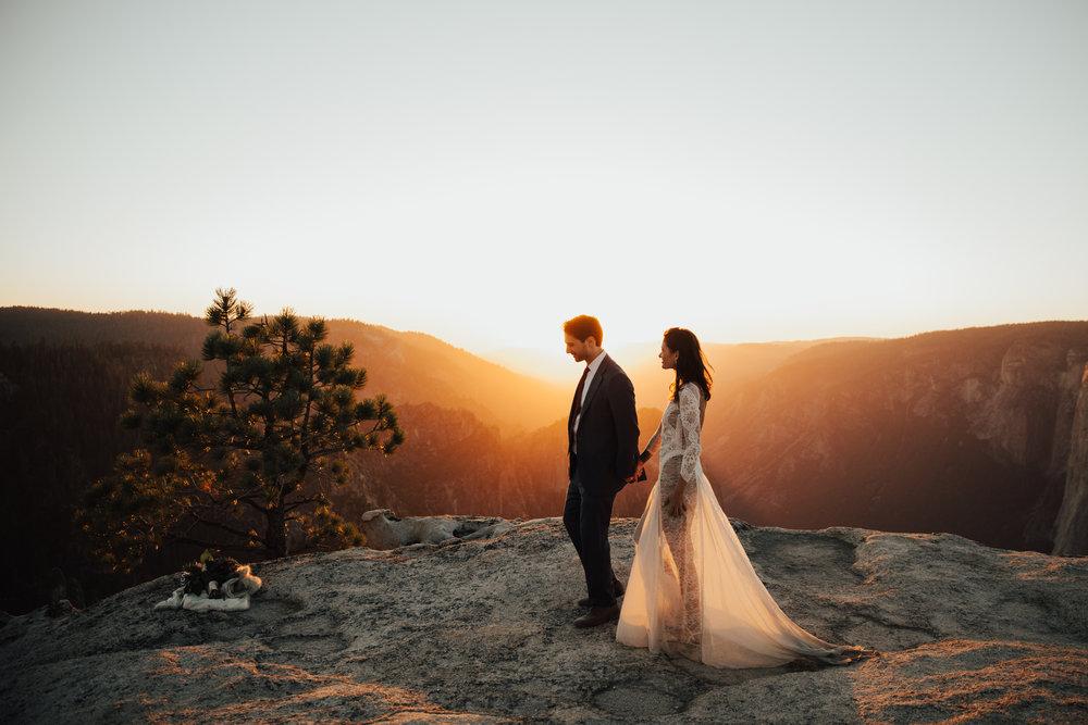 taft point sunset wedding