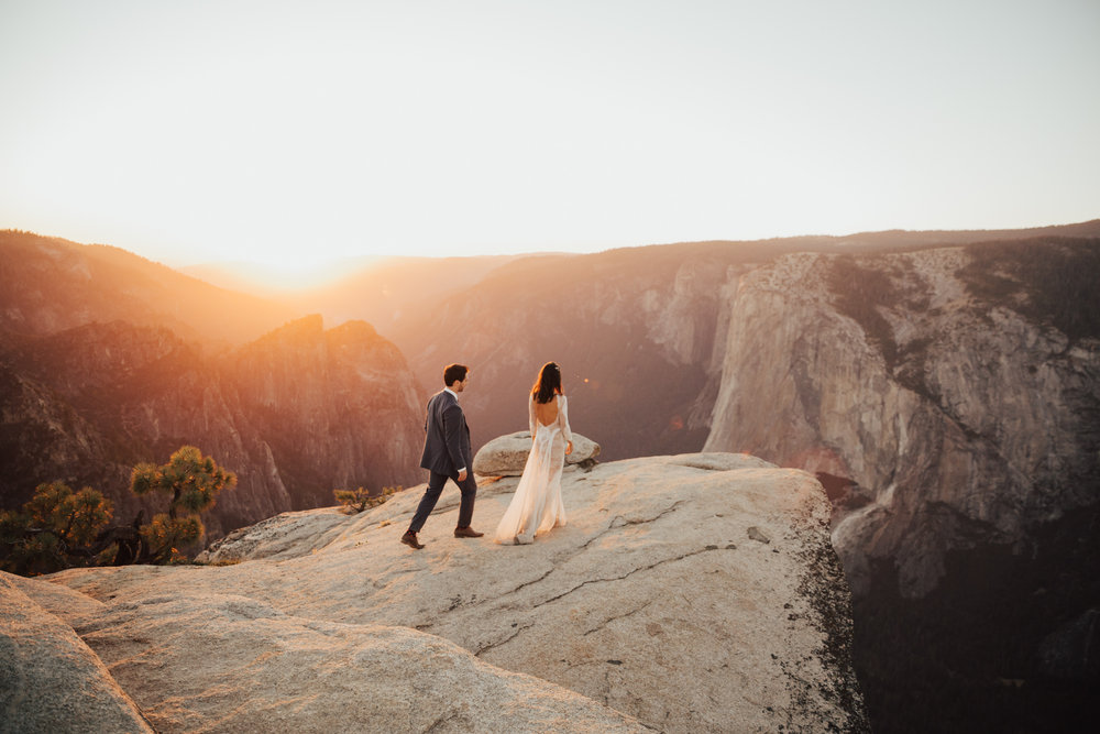 Yosemite Taft Point Elopement