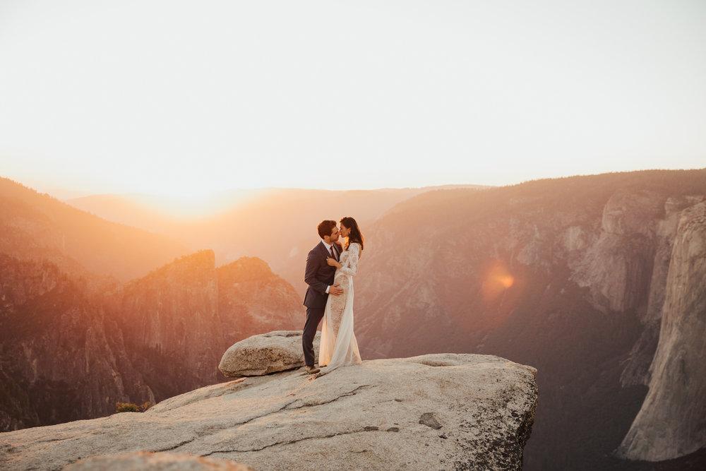 Sunset Yosemite Elopement