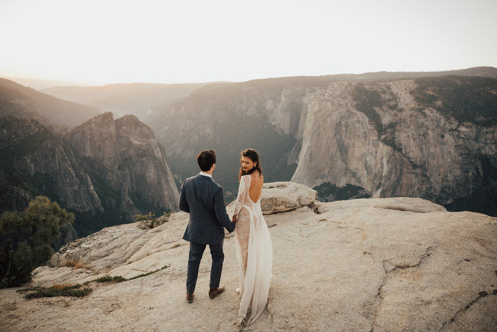 SUNSET WEDDING TAFT POINT CALIFORNIA