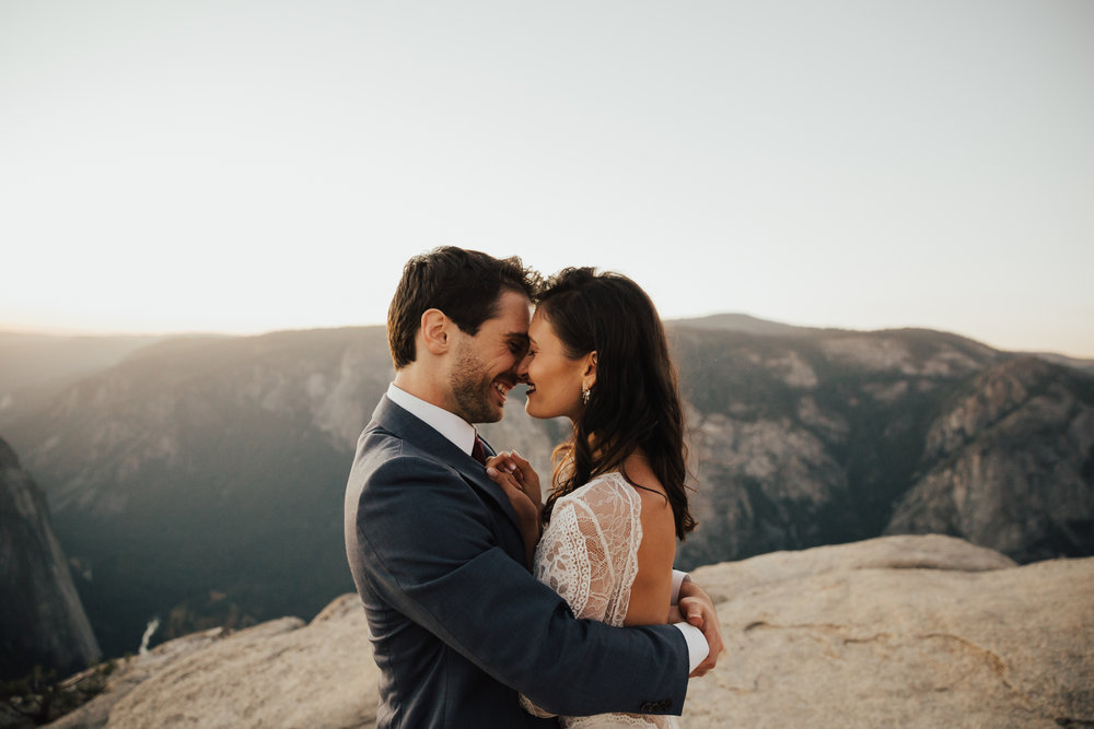yosemite park intimate wedding