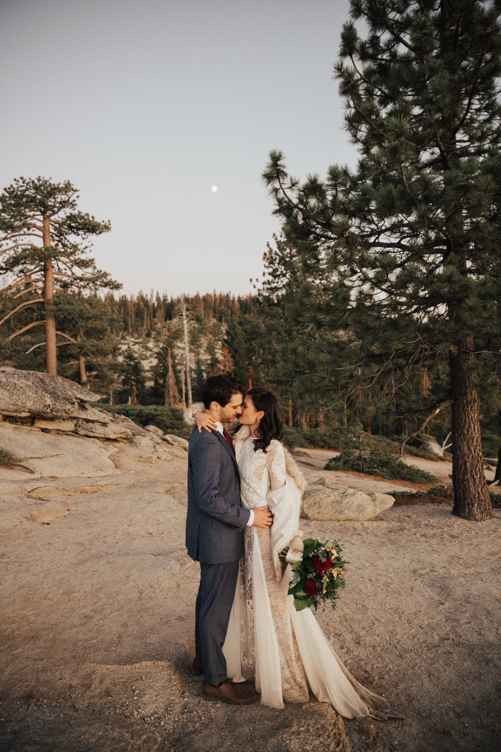 Intimate summer elopement yosemite
