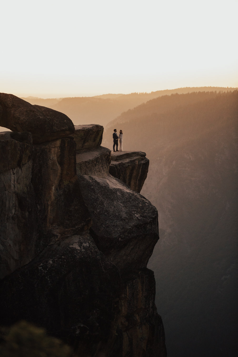 sunset taft point wedding