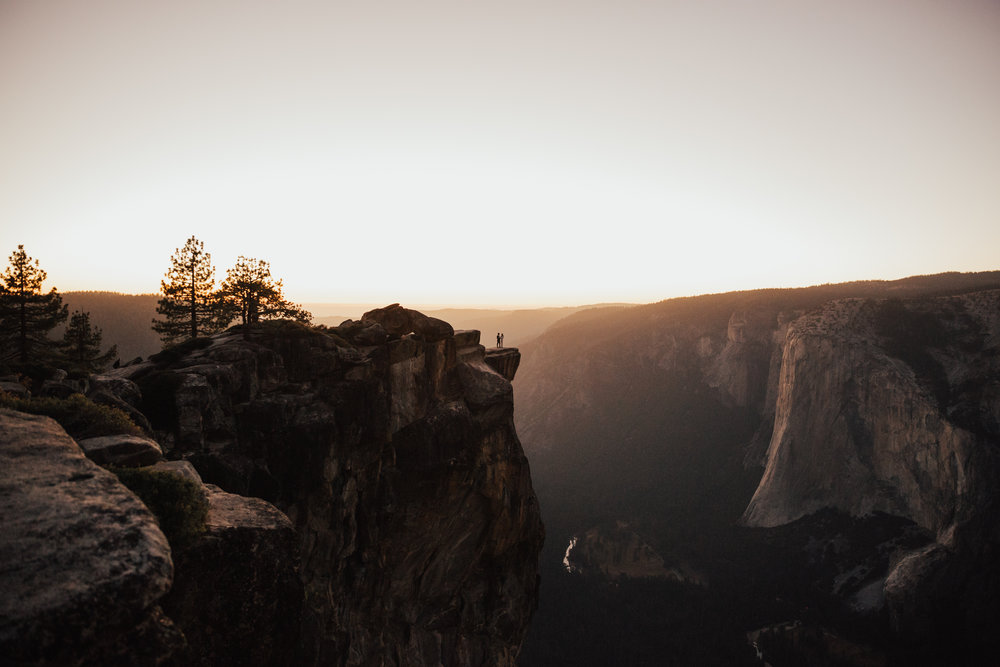 elopement sunset taft point