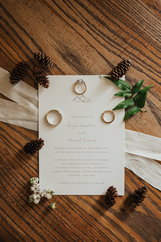 mountain wedding invites