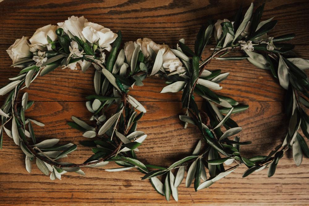 flower crowns wedding flower girls