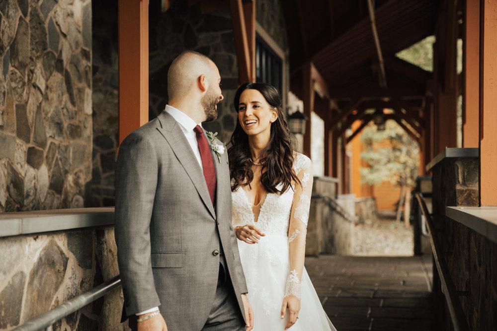 first look hunter mountain wedding