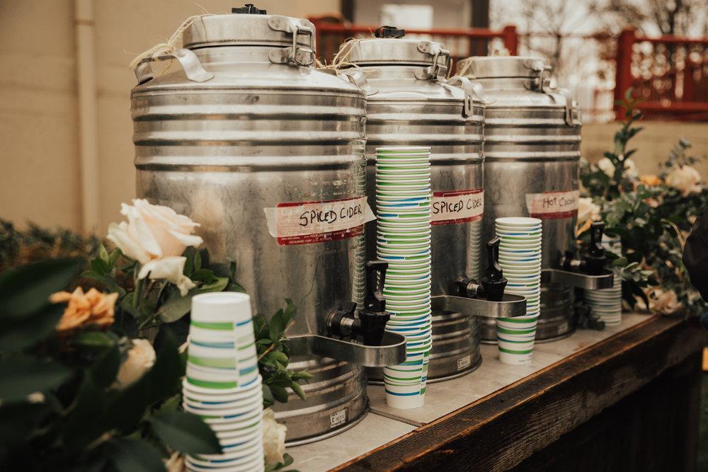 hot drinks wedding