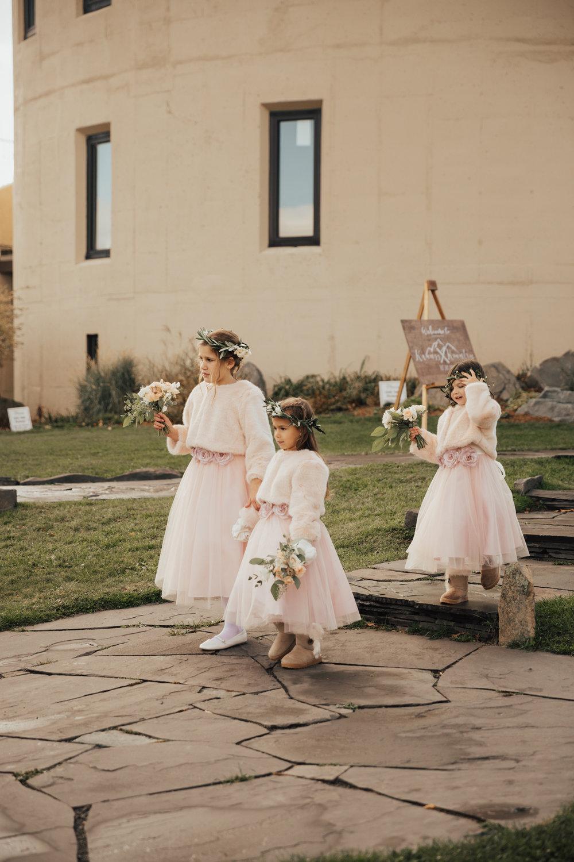 flower girls winter wedding