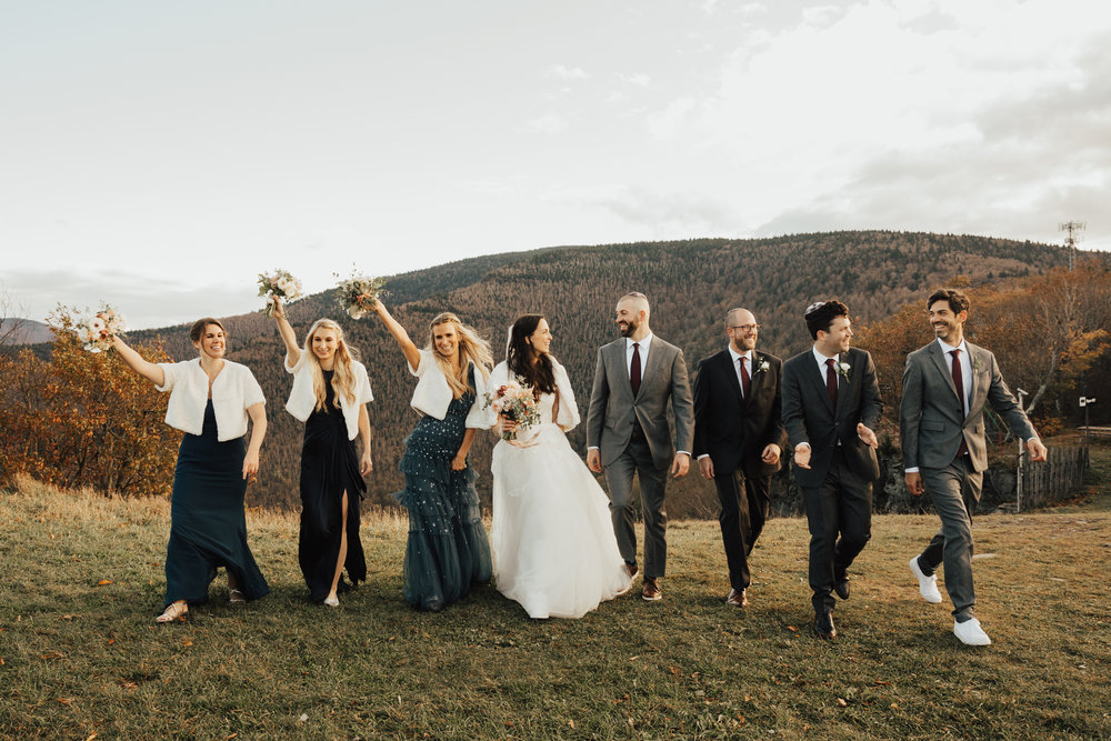 mix and match bridal party