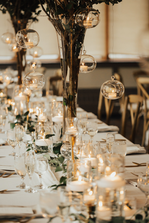 hanging bulbs wedding decor