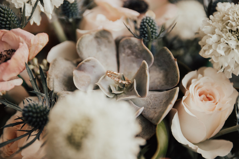 succulent wedding bouquet