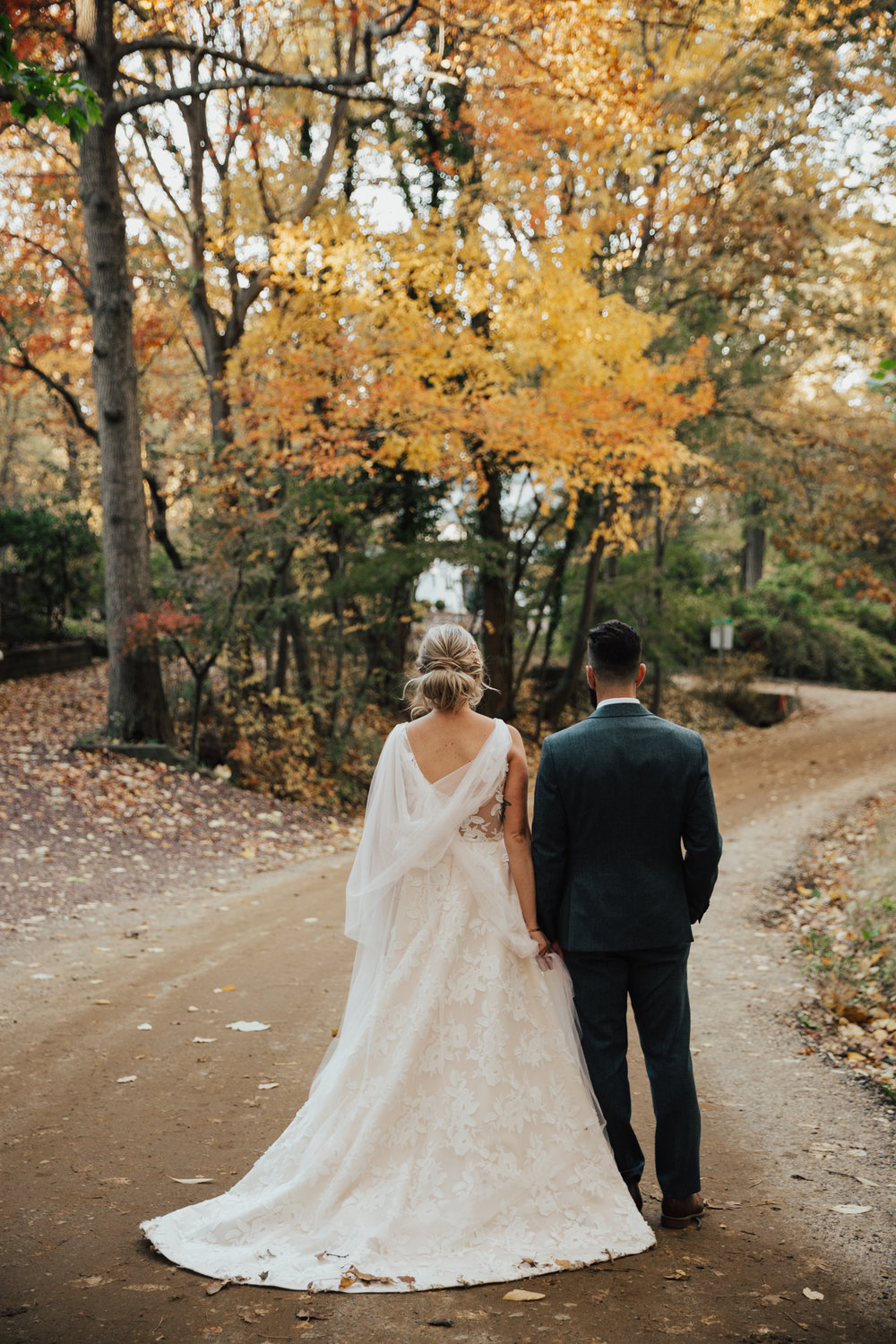 fall outdoor new york wedding