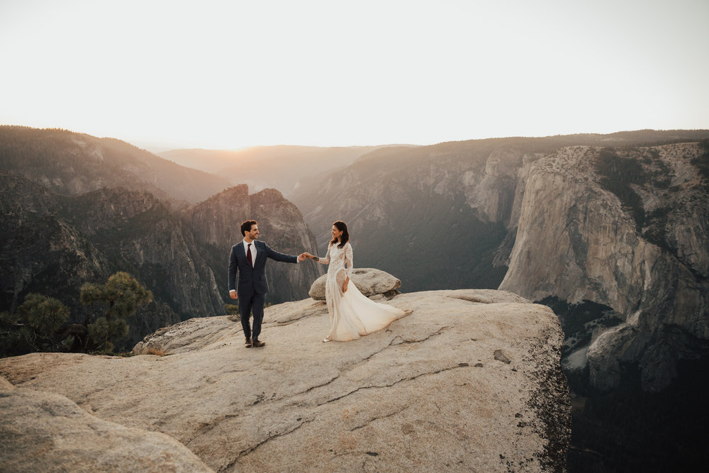 Intimate Yosemite Elopement // Lara + Sean // Glacier Point