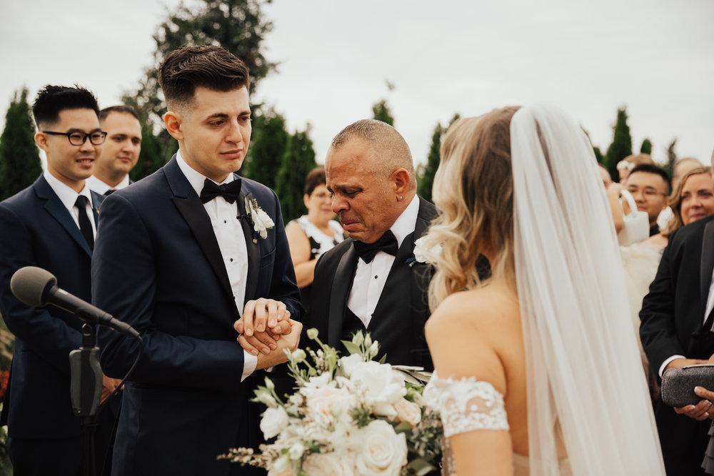 tearful wedding