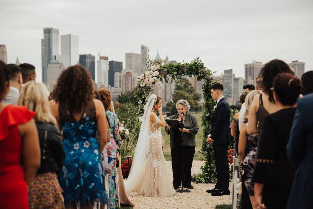 liberty house outdoor wedding ceremony