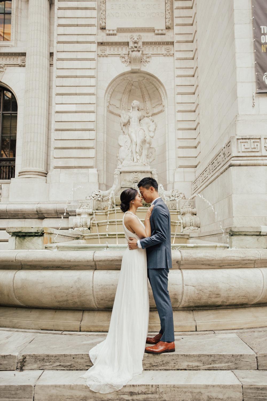 glam wedding NYPL