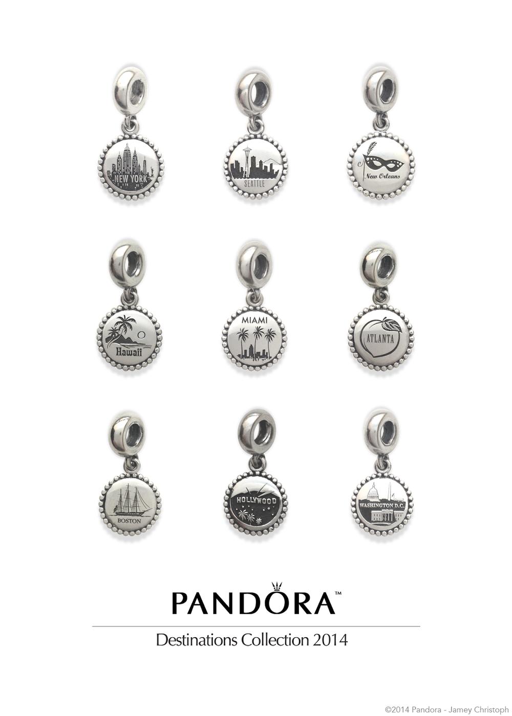 pandora destinations 2014