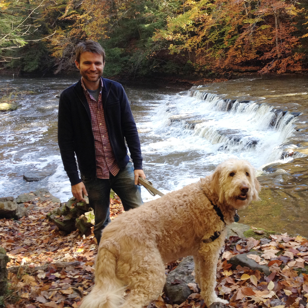 With Spencer at Chagrin Falls, 2015.