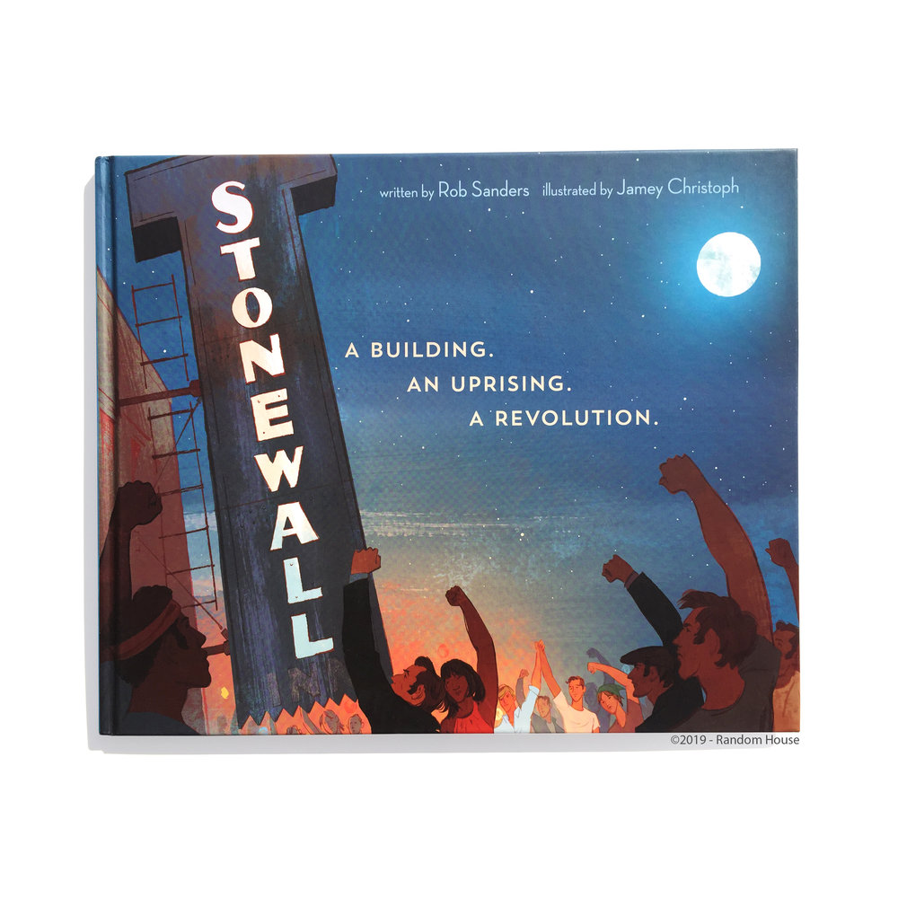 Stonewall: A Building. An Uprising. A Revolution comes out today! Thank you Penguin Random House, Rob Sanders, Michael Joosten, and Nicole De Las Heras for this special collaboration. The thought of creating a safe place, an affirming resource, a picture book that tells this important history to kids for the first time, gave me such hope as I was drawing. While LGBTQ rights in America have come so far in the 50 years since Stonewall, we owe all our gains and progress to the brave rioters and demonstrators that started the fight that night, June 28, 1969.