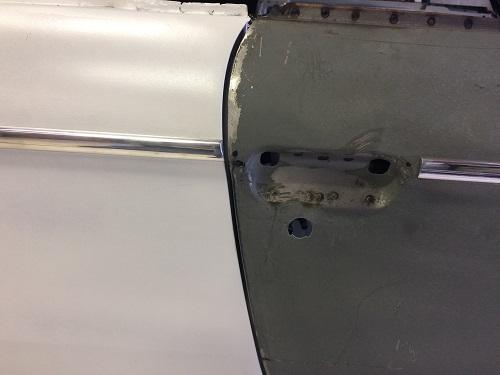 Drilled holes for door trim