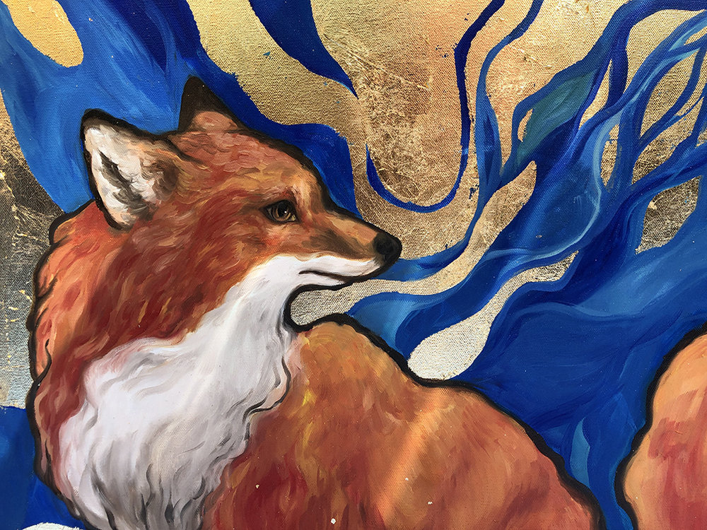 Vulpes,  2019, Oil on Canvas