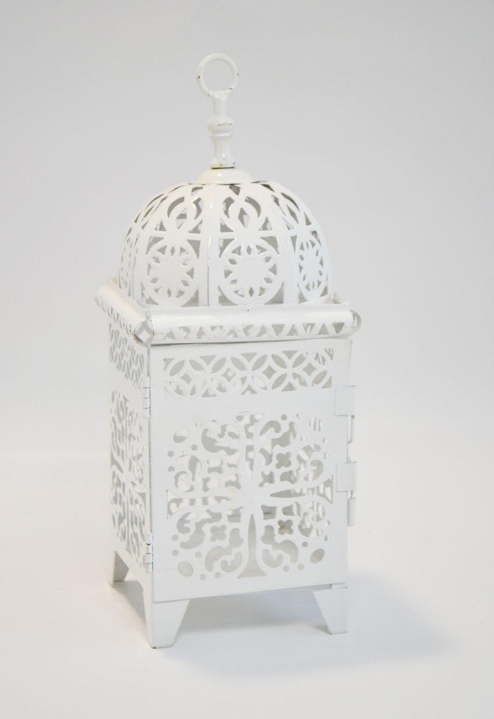 white moroccan lantern   Quantity: 23  Price: $12.00