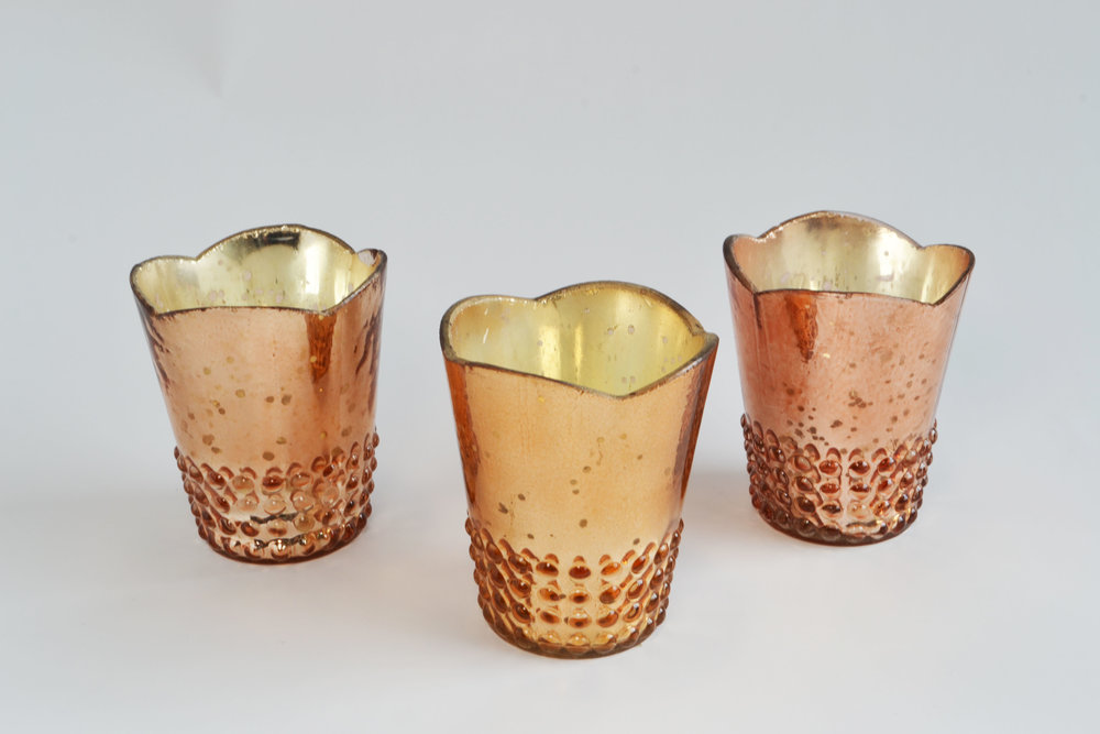 Juliette copper mercury votive   Quantity: 84  Price: $4.50