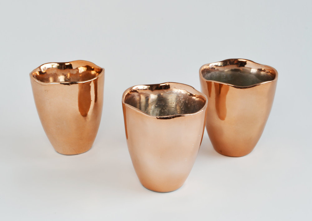 scalloped edge copper votive   Quantity: 35  Price: $4.50