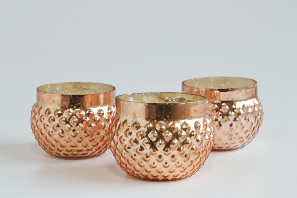 Juliette copper mercury votive mini   Quantity: 9  Price: $3.50