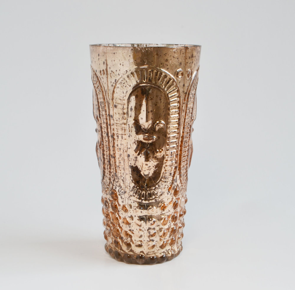 Rose Gold Votive/vase tall   Quantity: 12  Price: $6.00