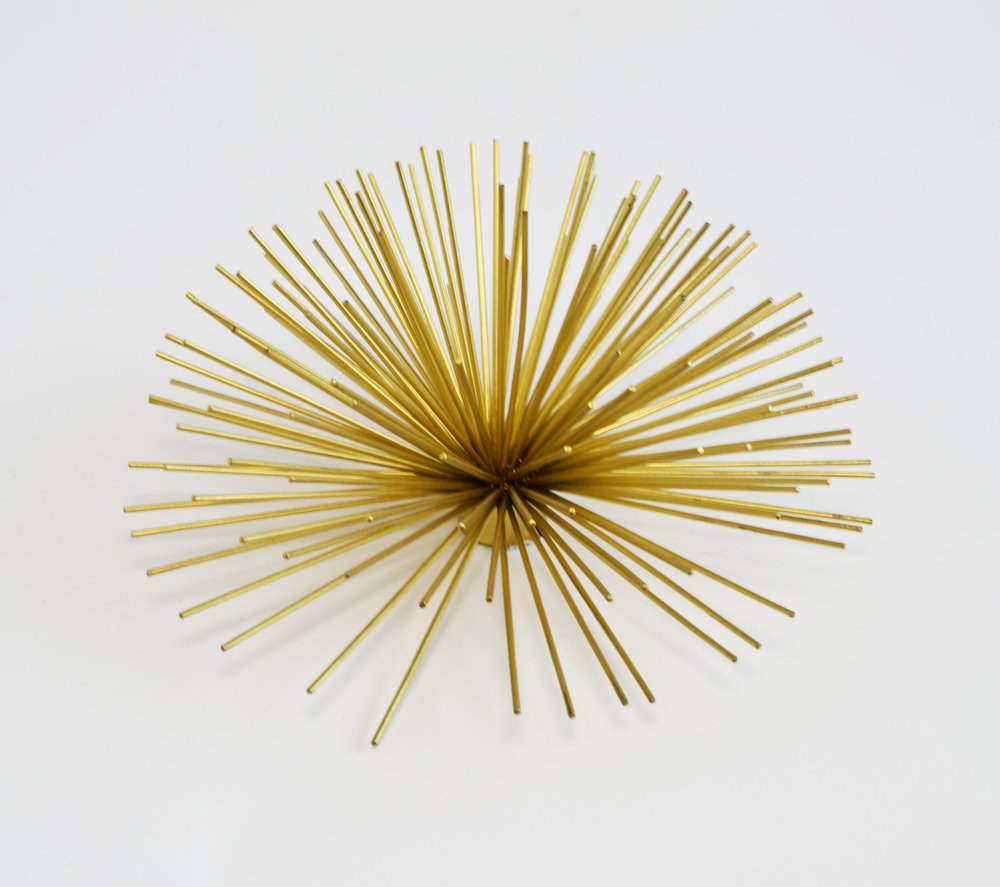 sea urchin - gold decor (large)   Quantity: 15  Price: $6.50